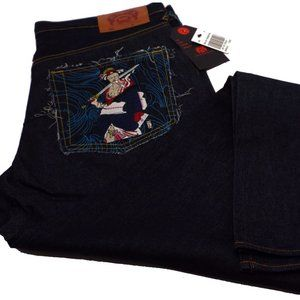 Red Monkey Company Men's Blue Jeans Size 36
